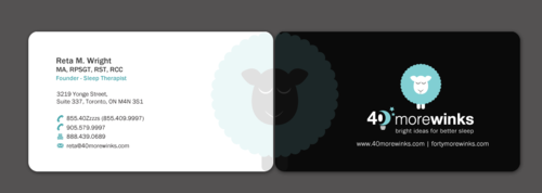 40 More Winks Business Cards and Stationery  Draft # 76 by einsanimation