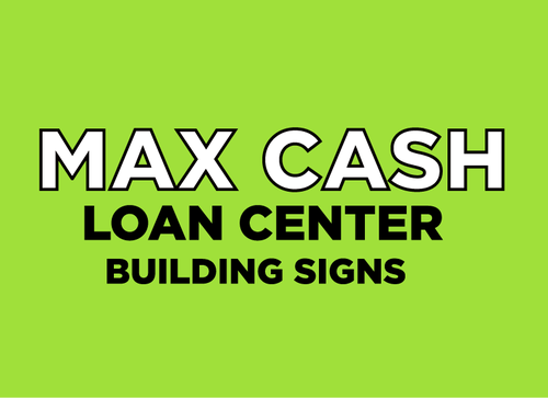 Max Cash Building signs Marketing collateral  Draft # 1 by umairmessi