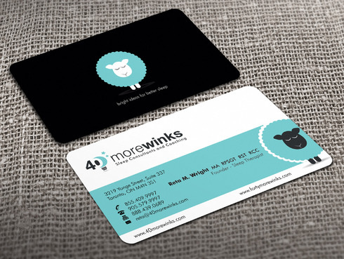 40 More Winks Business Cards and Stationery  Draft # 421 by Xpert