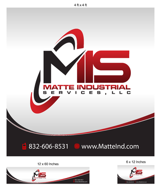 Matte Industrial Services, LLC Marketing collateral Winning Design by Kaiza