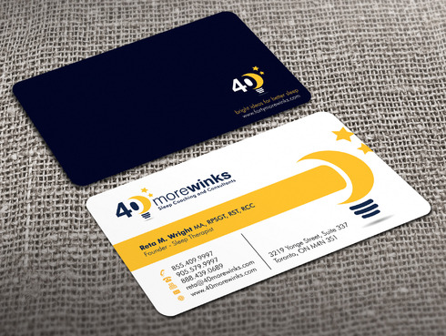 40 More Winks Business Cards and Stationery  Draft # 448 by Xpert