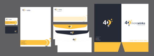 40 More Winks Business Cards and Stationery  Draft # 470 by Xpert