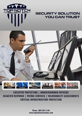 Security Solution you can Trust Marketing collateral Winning Design by DJJOHN