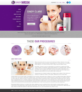SINDY CLARO MEDICINA ESTETICA ESPECIALIZADA Complete Web Design Solution  Draft # 25 by timefortheweb