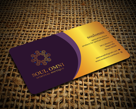 SOUL OMNI Spiritual Products Business Cards and Stationery  Draft # 302 by sufyan25