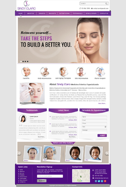 SINDY CLARO MEDICINA ESTETICA ESPECIALIZADA Complete Web Design Solution  Draft # 28 by jogdesigner