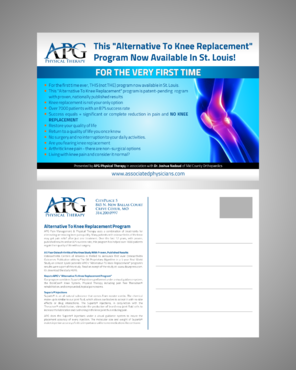 "This ""Alternative To Knee Replacement"" Program Now Available In St. Louis! Marketing collateral  Draft # 4 by Kaiza"