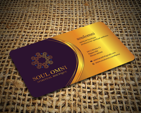 SOUL OMNI Spiritual Products Business Cards and Stationery  Draft # 314 by sufyan25