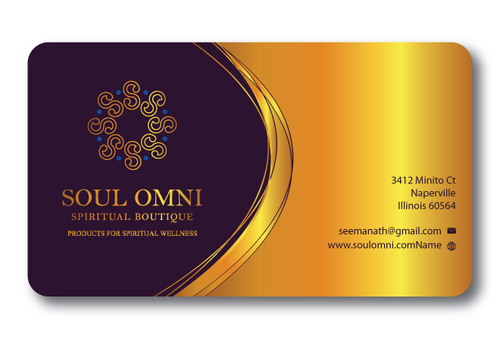 SOUL OMNI Spiritual Products Business Cards and Stationery  Draft # 320 by sufyan25