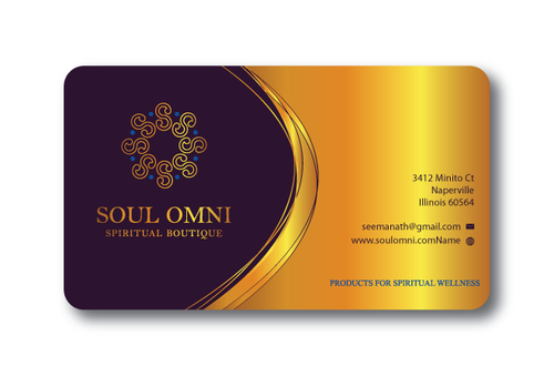 SOUL OMNI Spiritual Products Business Cards and Stationery  Draft # 321 by sufyan25