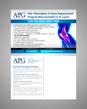 "This ""Alternative To Knee Replacement"" Program Now Available In St. Louis! Marketing collateral  Draft # 7 by Kaiza"