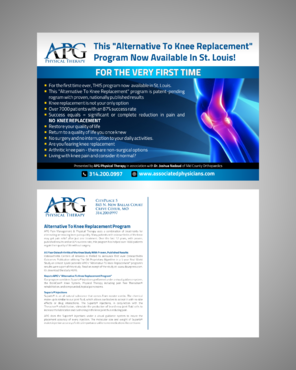 "This ""Alternative To Knee Replacement"" Program Now Available In St. Louis! Marketing collateral  Draft # 8 by Kaiza"