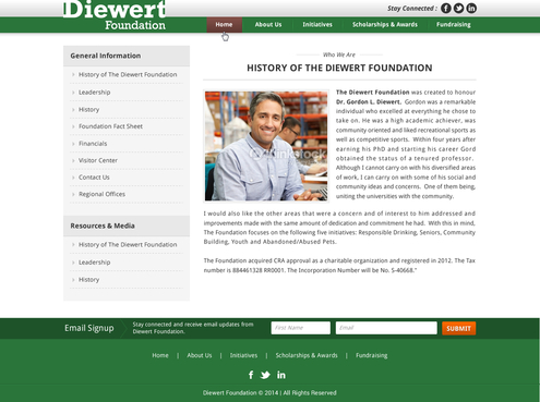 Diewert Foundation Web Design  Draft # 14 by jogdesigner