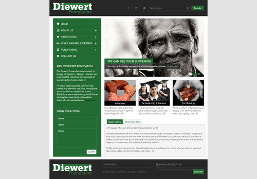 Diewert Foundation Web Design  Draft # 16 by DesignTechnologies