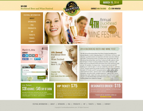 Buckhead Beer and Wine Festival Complete Web Design Solution  Draft # 18 by timefortheweb