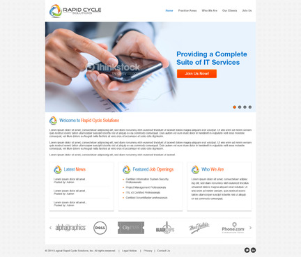 Rapid Cycle Solutions Complete Web Design Solution  Draft # 64 by Deziner83