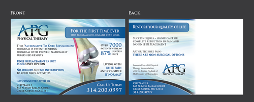 "This ""Alternative To Knee Replacement"" Program Now Available In St. Louis! Marketing collateral  Draft # 26 by Achiver"