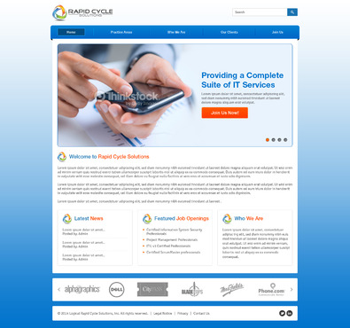 Rapid Cycle Solutions Complete Web Design Solution  Draft # 72 by Deziner83