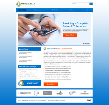 Rapid Cycle Solutions Complete Web Design Solution  Draft # 74 by Deziner83