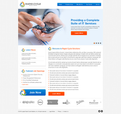 Rapid Cycle Solutions Complete Web Design Solution  Draft # 76 by Deziner83