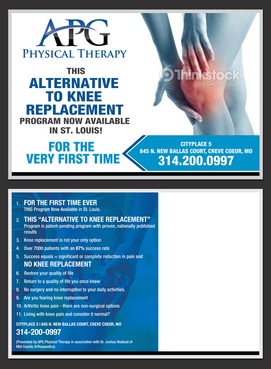 "This ""Alternative To Knee Replacement"" Program Now Available In St. Louis! Marketing collateral  Draft # 29 by destudio"
