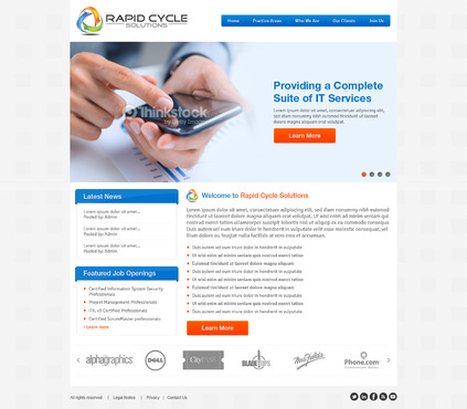 Rapid Cycle Solutions Complete Web Design Solution  Draft # 95 by Deziner83