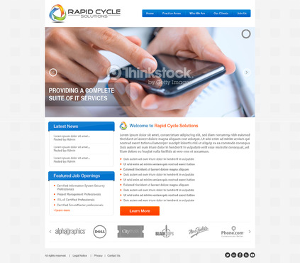 Rapid Cycle Solutions Complete Web Design Solution  Draft # 96 by Deziner83