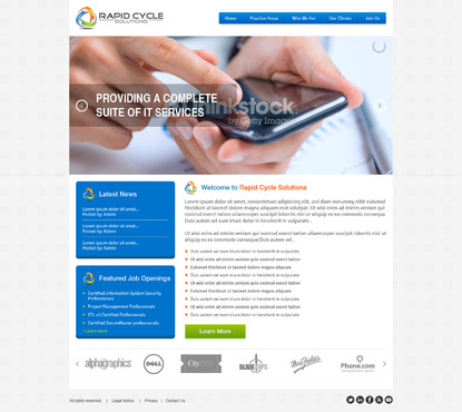 Rapid Cycle Solutions Complete Web Design Solution  Draft # 97 by Deziner83