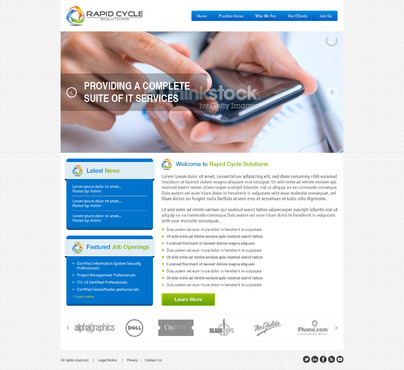 Rapid Cycle Solutions Complete Web Design Solution  Draft # 100 by Deziner83