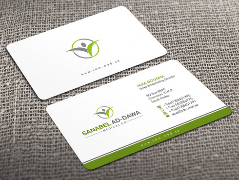 SANABEL AD-DAWA Business Cards and Stationery  Draft # 3 by Xpert
