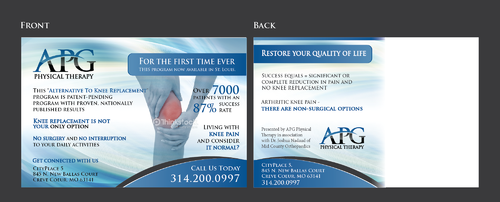 "This ""Alternative To Knee Replacement"" Program Now Available In St. Louis! Marketing collateral  Draft # 31 by Achiver"
