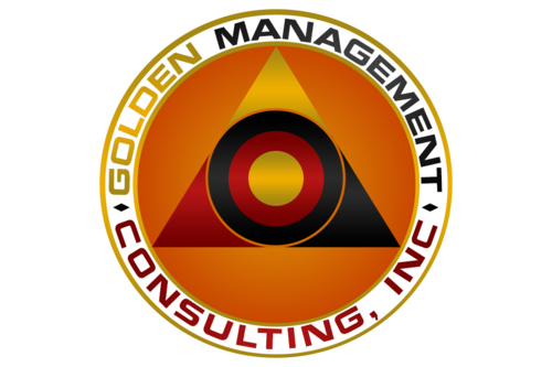 GOLDEN MANAGEMENT CONSULTING Logo Winning Design by FreelanceDan
