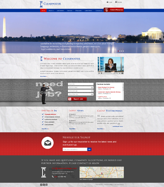 Clearwater Legal Staffing Complete Web Design Solution  Draft # 114 by 4bdesign