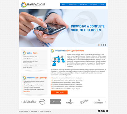 Rapid Cycle Solutions Complete Web Design Solution  Draft # 129 by Deziner83