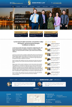 attorney Web Design  Draft # 3 by Designpond2818