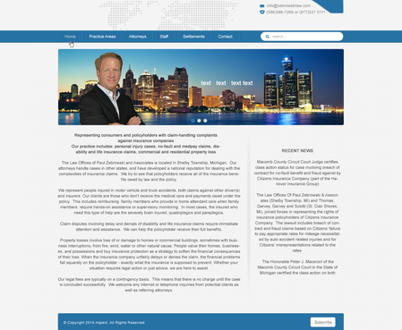 attorney Web Design  Draft # 20 by giorgibego