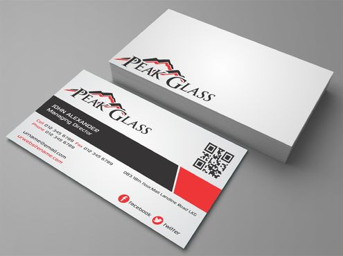 Peak Glass Business Cards and Stationery  Draft # 156 by DesignBlast