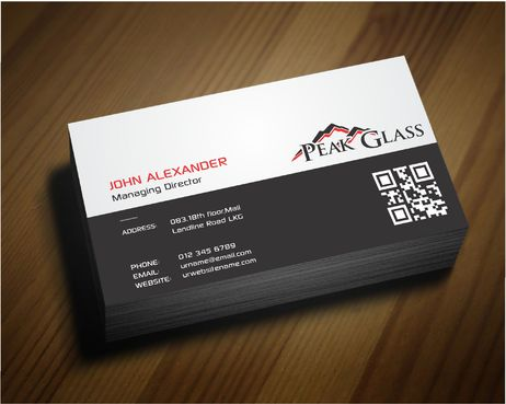 Peak Glass Business Cards and Stationery  Draft # 166 by DesignBlast