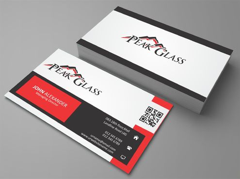 Peak Glass Business Cards and Stationery  Draft # 171 by DesignBlast