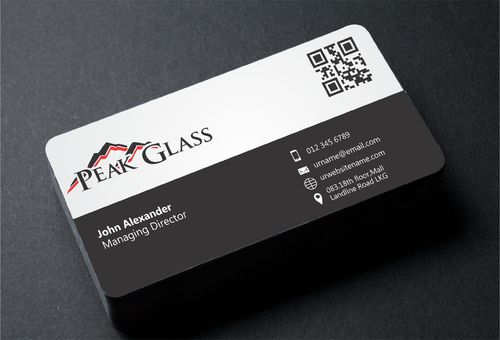 Peak Glass Business Cards and Stationery  Draft # 177 by DesignBlast
