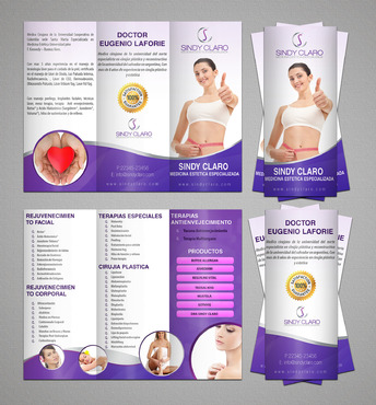 SINDY CLARO MEDICINA ESTETICA ESPECIALIZADA Marketing collateral  Draft # 24 by RRPDESIGN