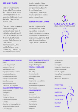 SINDY CLARO MEDICINA ESTETICA ESPECIALIZADA Marketing collateral  Draft # 25 by Deziner85