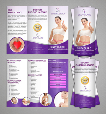 SINDY CLARO MEDICINA ESTETICA ESPECIALIZADA Marketing collateral  Draft # 29 by RRPDESIGN