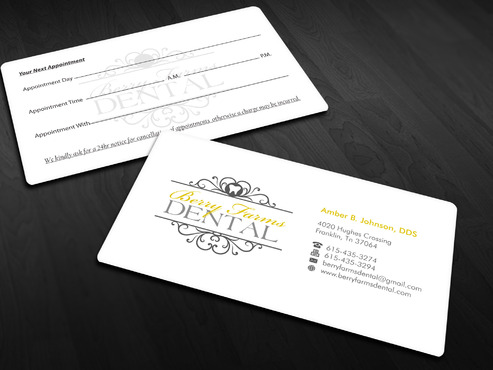 Berry Farms Dental Business Cards and Stationery  Draft # 2 by Xpert