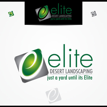 elite desert landscaping Logo Winning Design by vector