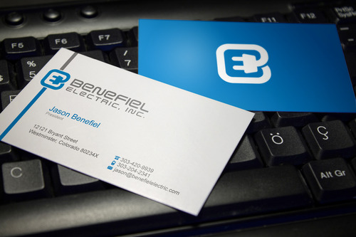 Electrical Contractor Business Cards and Stationery  Draft # 114 by sevensky