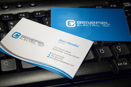 Electrical Contractor Business Cards and Stationery  Draft # 120 by sevensky