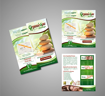 Brochure 2-fold, Color Business Card 2-sided and Convert current PNG logo to higher resolution PDF