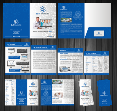 Elite Diagnostics Marketing collateral Winning Design by Achiver