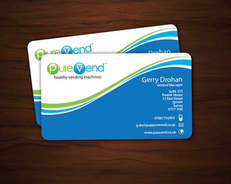 purevend Business Cards and Stationery  Draft # 57 by imahegrafix